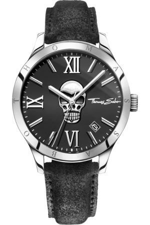 THOMAS SABO Men's Watch REBEL ICON black WA0210-218-203-43 MM