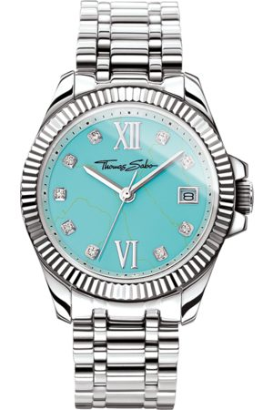 Thomas Sabo Women's watch Divine turquoise WA0317-201-215-33 MM