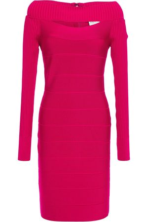 Hervé Léger Hervé Léger Woman Cutout Bandage Mini Dress Fuchsia Size L