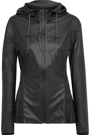 Reebok Woman Printed Coated-shell Hooded Jacket Size 32