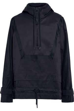 Reebok Women Sweatshirts - Woman Grosgrain-trimmed Cotton-twill Hooded Jacket Navy Size 32