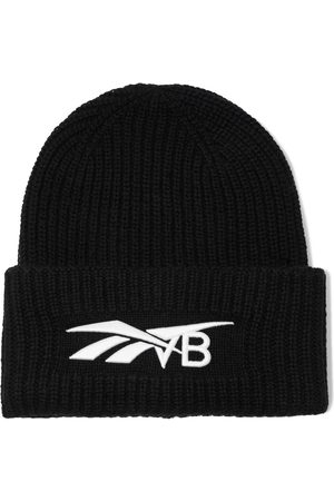 Reebok Women Beanies - Woman Embroidered Ribbed Wool And Cashmere-blend Beanie Size ONESIZE