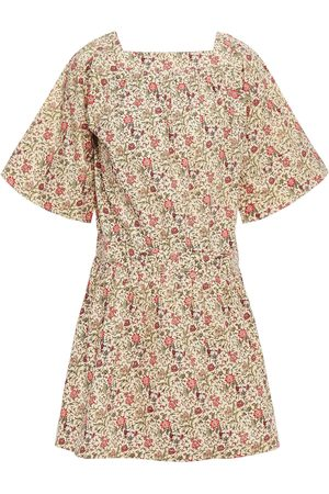 Vanessa Bruno Women Printed Dresses - Woman Nessie Gathered Floral-print Cotton Mini Dress Cream Size 42