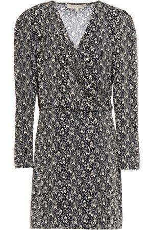 Vanessa Bruno Women Printed Dresses - Woman Nehila Wrap-effect Printed Crepe Mini Dress Size 34