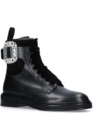 Roger Vivier Women Ankle Boots - Viv' Rangers Strass Buckle Ankle Boots