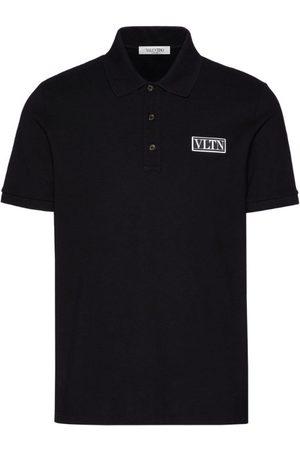 VALENTINO Men Polo Shirts - Cotton Logo Polo Shirt