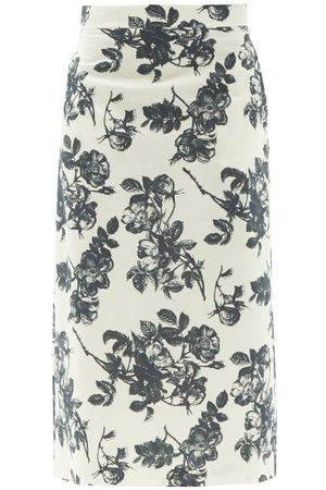 BROCK COLLECTION Stella Floral-print Cotton Midi Skirt - Womens - Multi