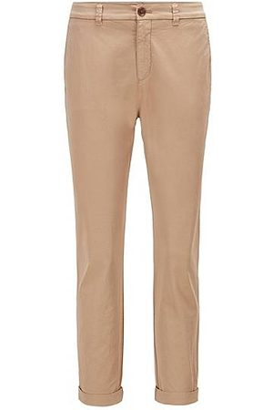 HUGO BOSS Women Trousers - Regular-fit chinos in organic stretch cotton