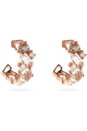 Suzanne Kalan Diamond, Topaz & 14kt Rose- Earrings - Womens - Rose