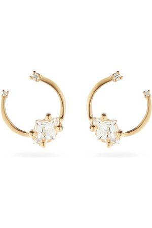 Suzanne Kalan Diamond, Topaz & 14kt Earrings - Womens