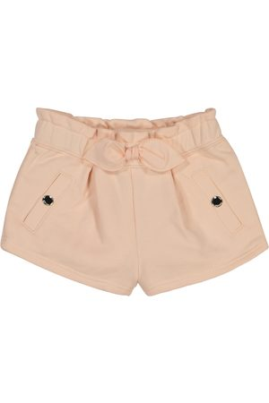 Chloé Baby bow-trimmed cotton-blend shorts