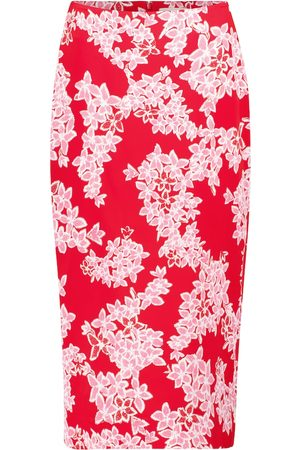 Diane von Furstenberg Kara high-rise floral silk cady pencil skirt