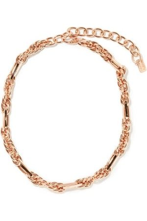 Lauren Rubinski Women Necklaces - Varied-link 14kt Rose- Necklace - Womens - Rose
