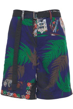 SACAI Archive Print Tech Shorts W/ Belt