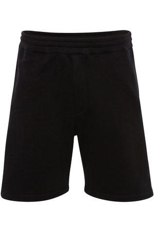 Alexander McQueen Logo Tape Cotton Sweat Shorts