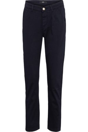 7 for all Mankind Stretch-cotton straight pants