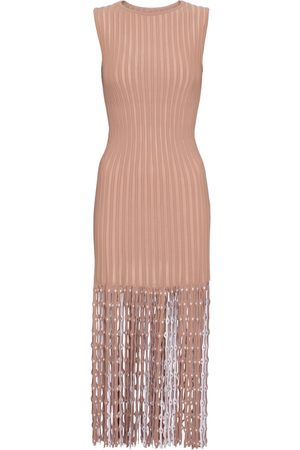 Alaïa Fringed midi dress
