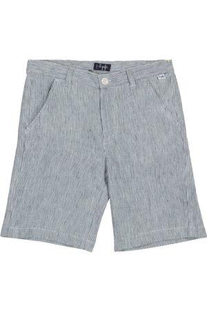 Il gufo Striped linen shorts