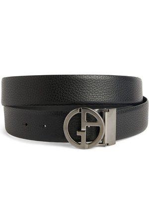 Armani Men Belts - Leather Logo-Buckle Belt