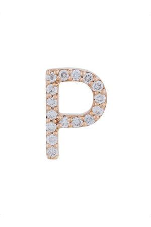 ALINKA 18kt rose gold diamond letter stud earring - Metallic