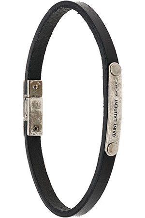 Saint Laurent Engraved plaque bracelet