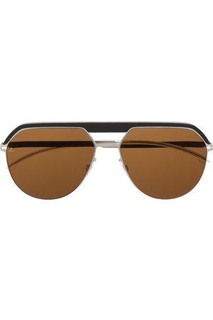 MYKITA Panelled aviator-frame sunglasses - Metallic