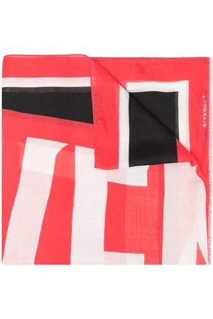 Givenchy Colour-block logo print scarf