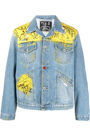 MJB - MARC JACQUES BURTON Graffiti-print distressed denim jacket
