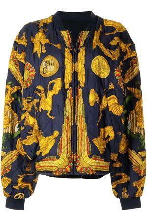 Hermès Pre-owned statues print reversible bomber jacket
