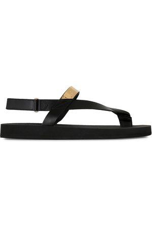 Giuseppe Zanotti Metallic detail thong sandals