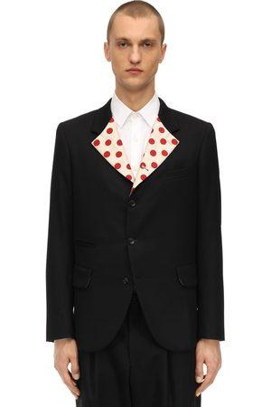 Comme des Garçons Men Coats - Wool Jersey & Silk Twill Jacket