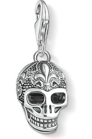 Thomas Sabo Necklaces - Charm pendant skull with lily -coloured 1546-637-21