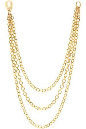 Maria Tash 14kt Triple Chain-link Single Earring - Womens