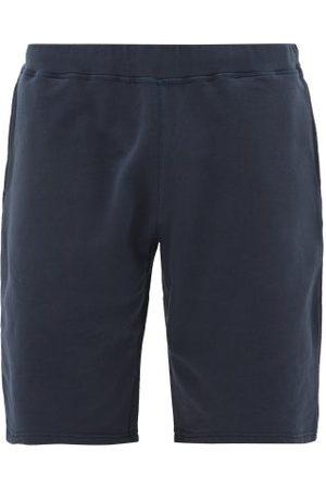 Sunspel Mid-rise Cotton-jersey Shorts - Mens - Navy
