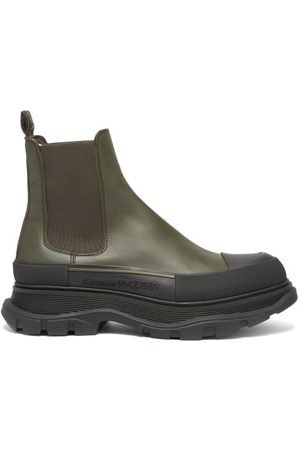 Alexander McQueen Chunky-sole Leather Chelsea Boots - Mens - Khaki