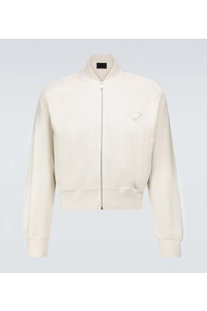 Prada Garment-dyed cotton bomber jacket