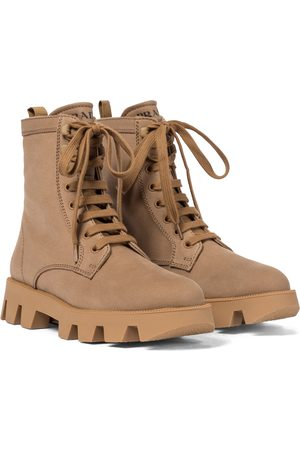 Prada Women Ankle Boots - Canvas combat boots