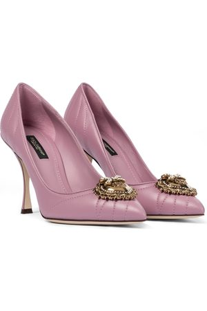 Dolce & Gabbana Women Heels - Devotion leather pumps