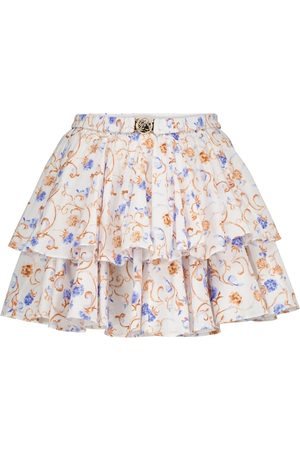 Caroline Constas Women Mini Skirts - Reign floral cotton-blend miniskirt