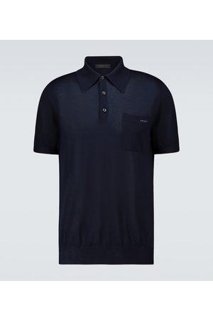Prada Short-sleeved cashmere polo sweater