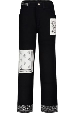 Barrie Exclusive to Mytheresa – Bandana-print cashmere-blend straight pants