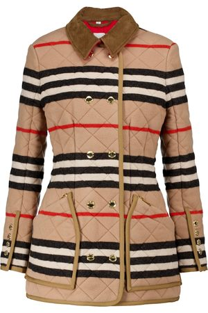 Burberry Icon Stripe quilted wool jacket