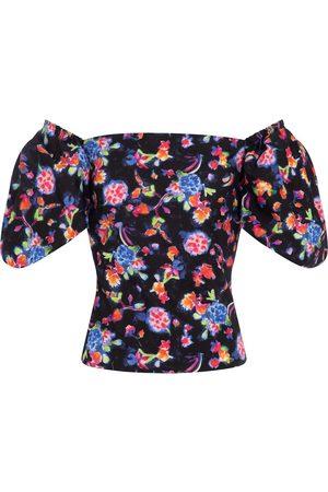 Caroline Constas Women Blouses - Eliana floral cotton-blend blouse