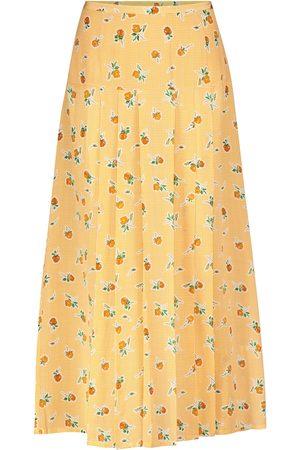 RIXO London Women Midi Skirts - Nancy houndstooth silk midi skirt