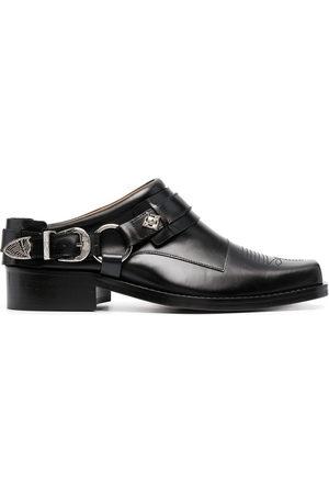 TOGA VIRILIS Buckled leather slip-on boots