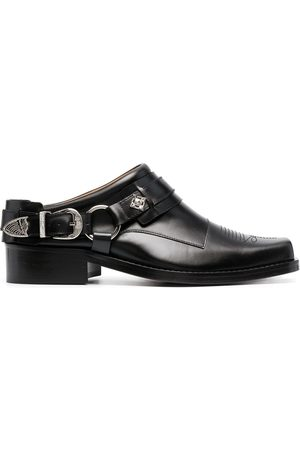 TOGA VIRILIS Men Casual Shoes - Buckled leather slip-on boots