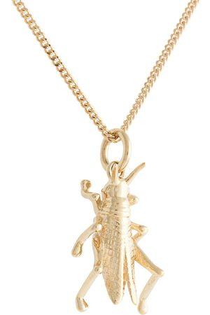 Karen Walker 9kt yellow grasshopper necklace