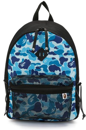 A Bathing Ape Camouflage-print mesh-compartment backpack