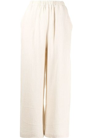 0711 Pattern-effect culotte trousers - Neutrals
