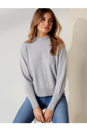 Forever New Women Jumpers - Women's Sasha Cashmere Jumper in Iced , Size Small 100% Cashmere